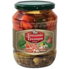 Ассорти огурцы с томатами ГОСТ 720 мл ст/б
