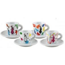 Биалетти ESPRESSO ARTE набор из 4 кофейных пар