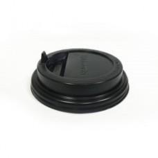 Крышка для стакана 300мл и 400мл, черная с носиком D90