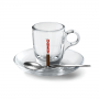 KIMBO Чашка и блюдце стеклянные для Эспрессо 60 мл