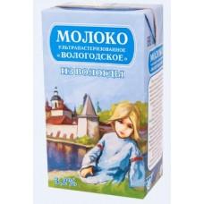 Молоко Вологда ультрапастеризованное 3,2%, 1000 г тетра-брик